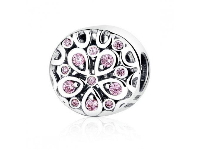 Přívěsek Crystal Flower z pravého stříbra Royal Fashion SCC053 645Kc