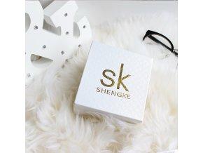SK Shengke hodinky Elegance Silver K0006-L04-SILVER