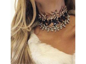 Royal Fashion choker náhrdelník Darcy luxusní zlatý
