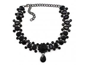 Royal Fashion choker náhrdelník Queen elegantní černý