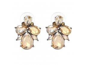 Royal Fashion náušnice Drop peckové zlaté