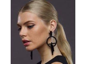 Royal Fashion náušnice Clara nadčasové černé