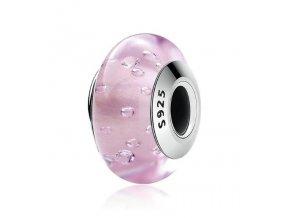 Royal Fashion přívěsek Růžové sklo Muráno SCZ025