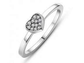 Royal Fashion prsten Třpytivé srdce SCR028