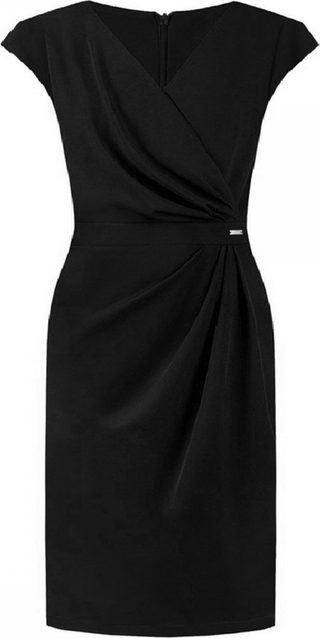 Jersa společenské šaty MM-108515 černá Velikost: 40