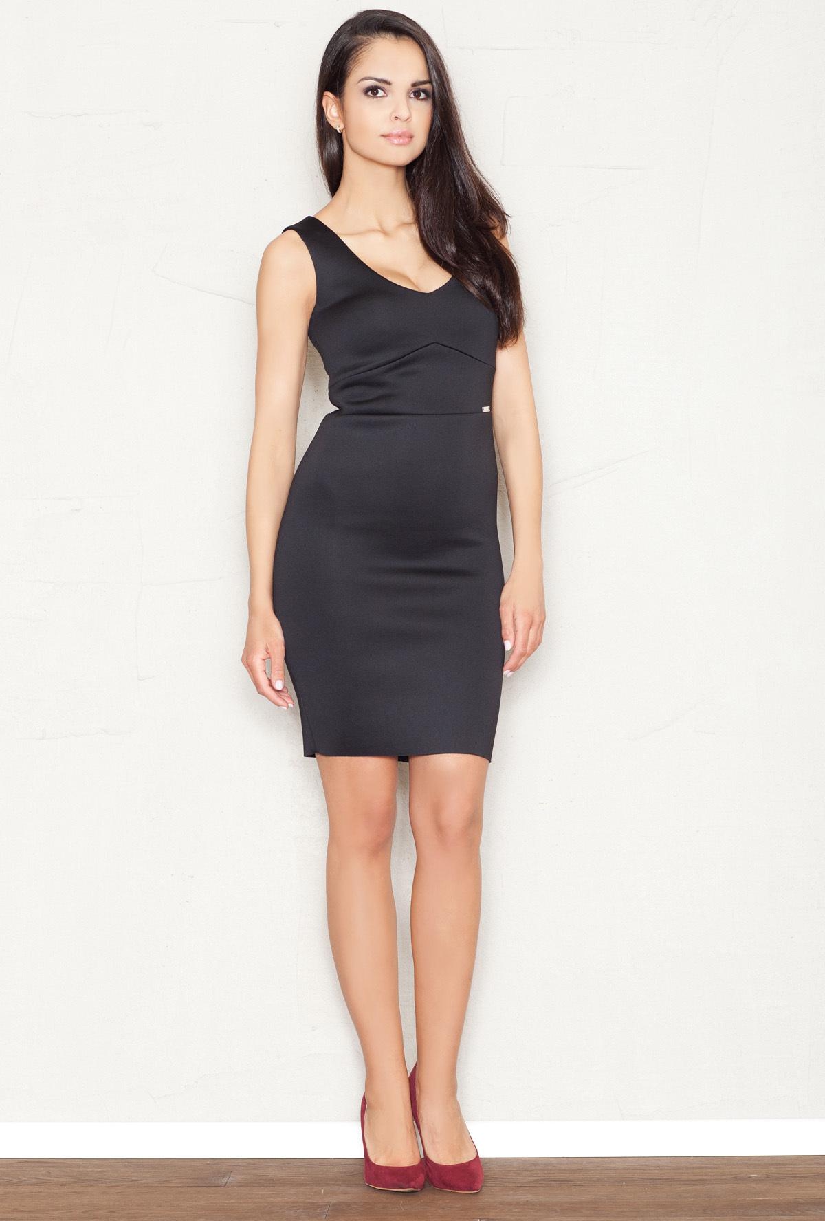 fd192ae9b3 Figl společenské pouzdrové šaty MM-43781 černá Velikost  M