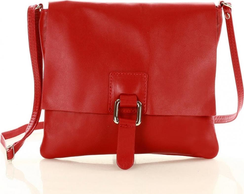f11013426e Mazzini kožená kabelka MM-129575 červená Velikost  Univerzální