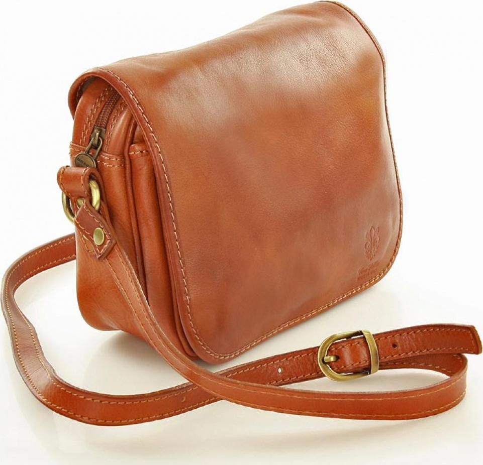 5c9cf5c678 Vera pelle kožená kabelka MM-109987 hnedá Velikost  Univerzální