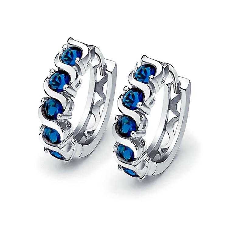 Emporial náušnice Královsky modrá záře MA-E099