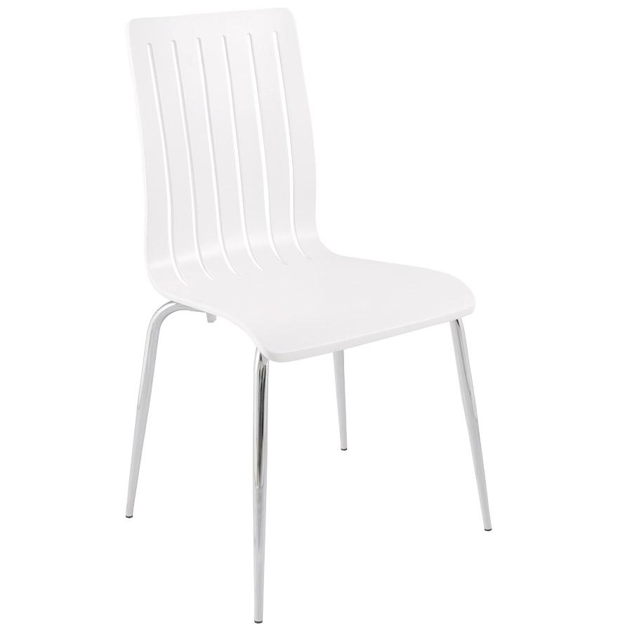 Kokoon Design dřevěná židle Stricto CH00370WH bílá