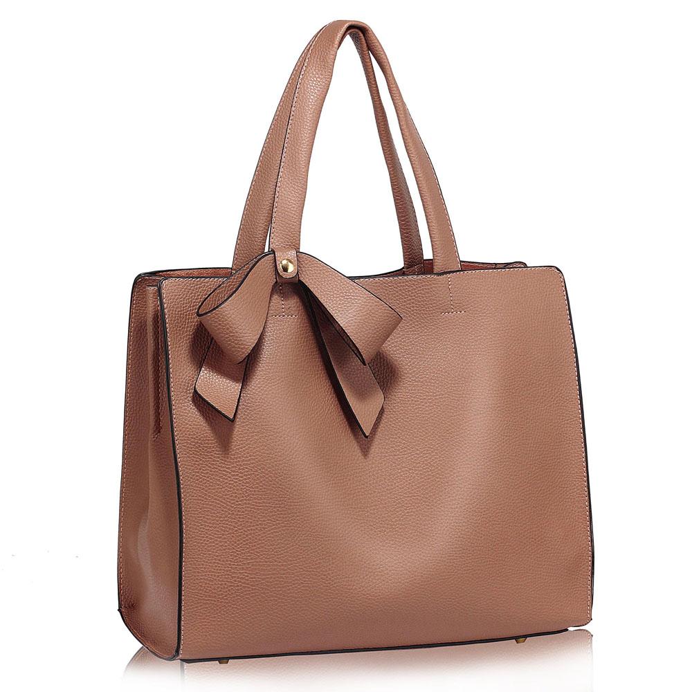 Stylová kabelka LS Fashion LS00236 NUDE