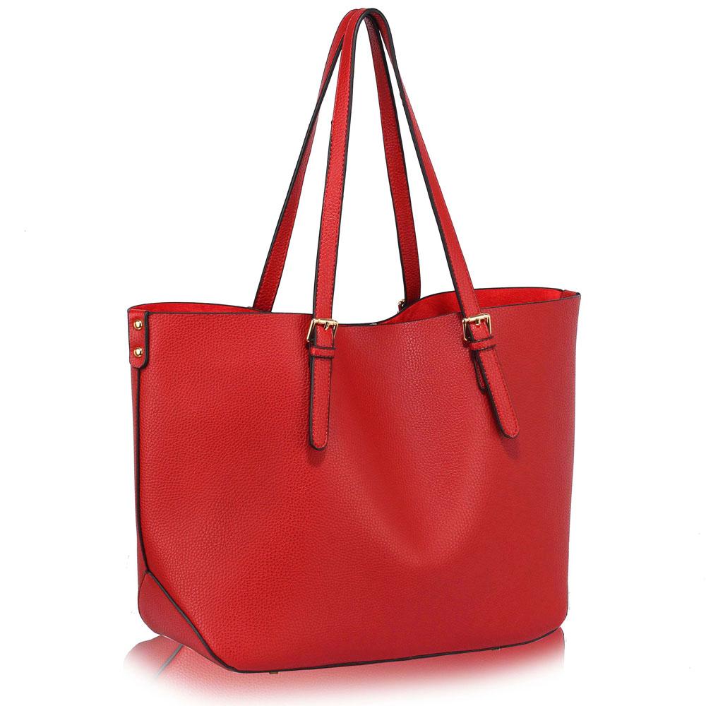 LS Fashion Moderní kabelka LS00265_RED