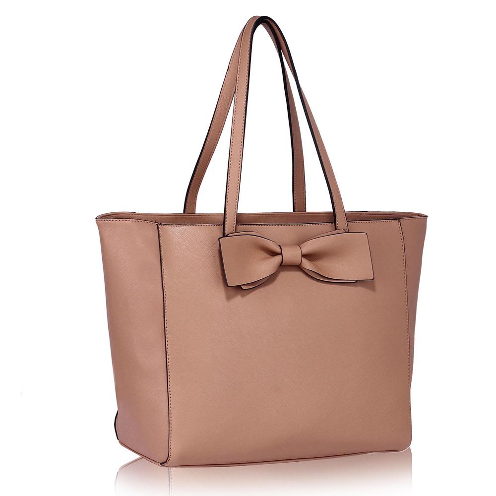 LS Fashion Elegantní kabelka LS00275_NUDE