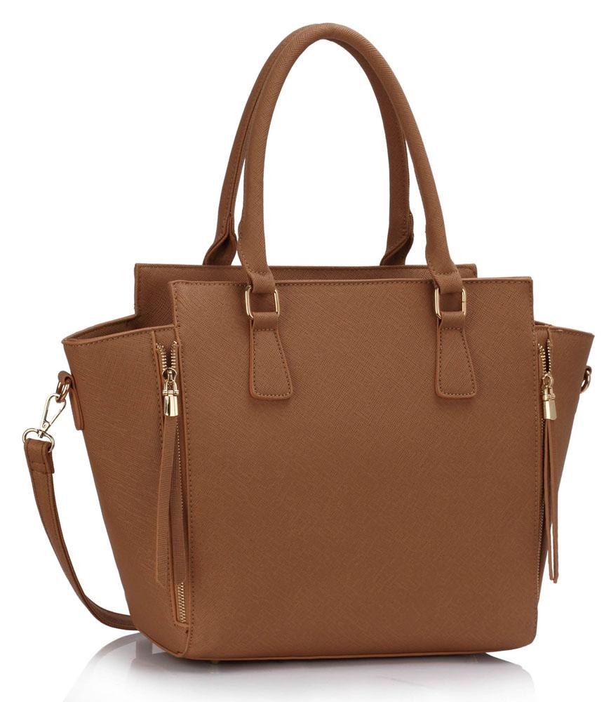 LS Fashion Elegantní kabelka LS00314_DARKNUDE