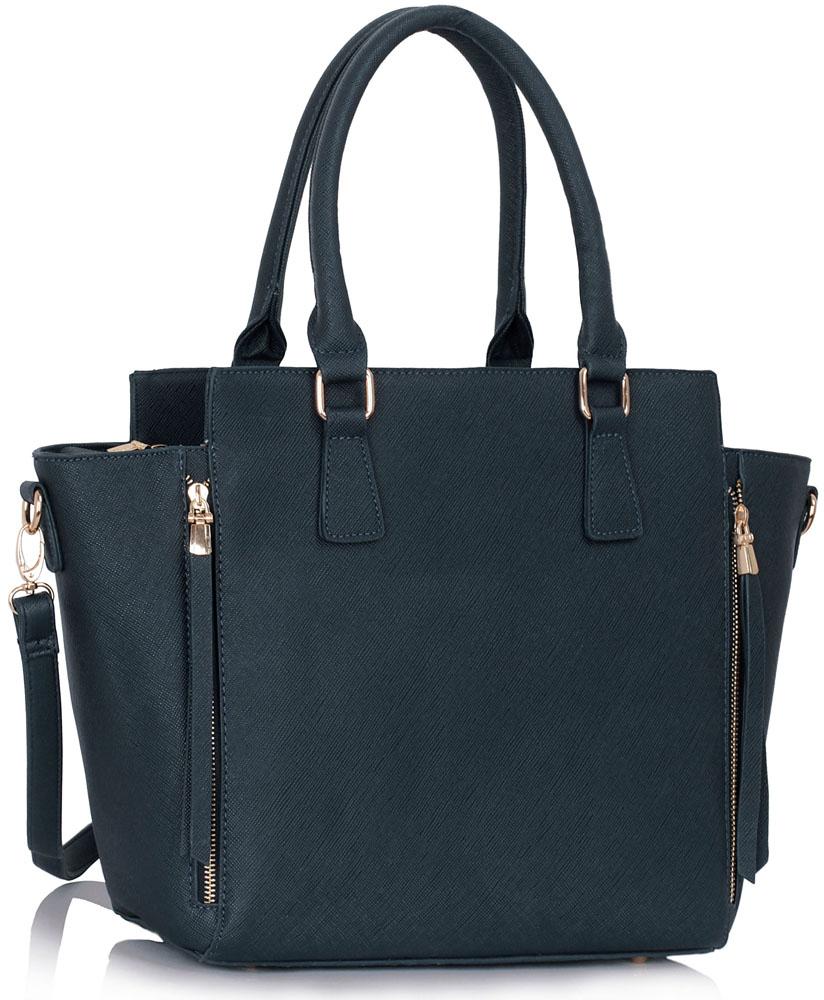 LS Fashion Elegantní kabelka LS00314_NAVY