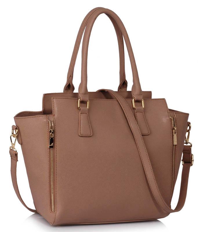LS Fashion Elegantní kabelka LS00314A_NUDE