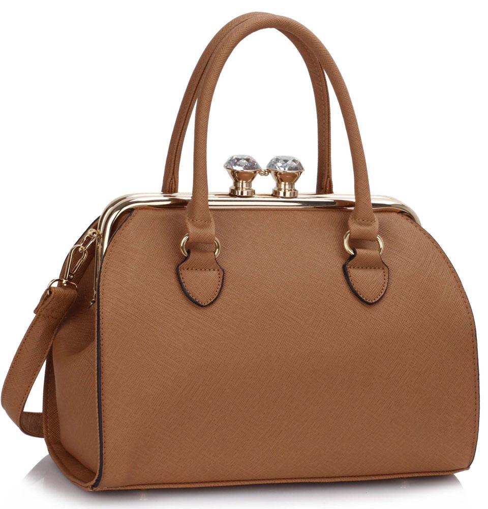 LS Fashion Elegantní kabelka LS00378A_DARKNUDE