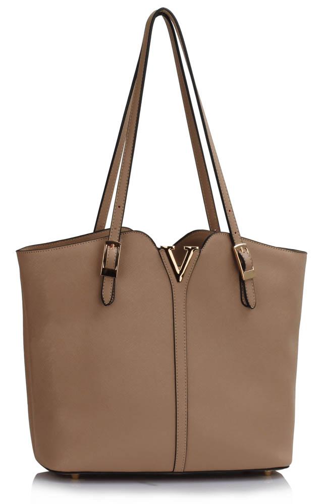 LS Fashion Elegantní kabelka LS00409_NUDE