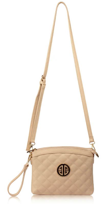 LS Fashion Elegantní kabelka LS00430_NUDE