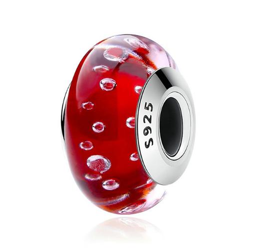 Přívěsek Červené sklo Muráno Royal Fashion SCZ027