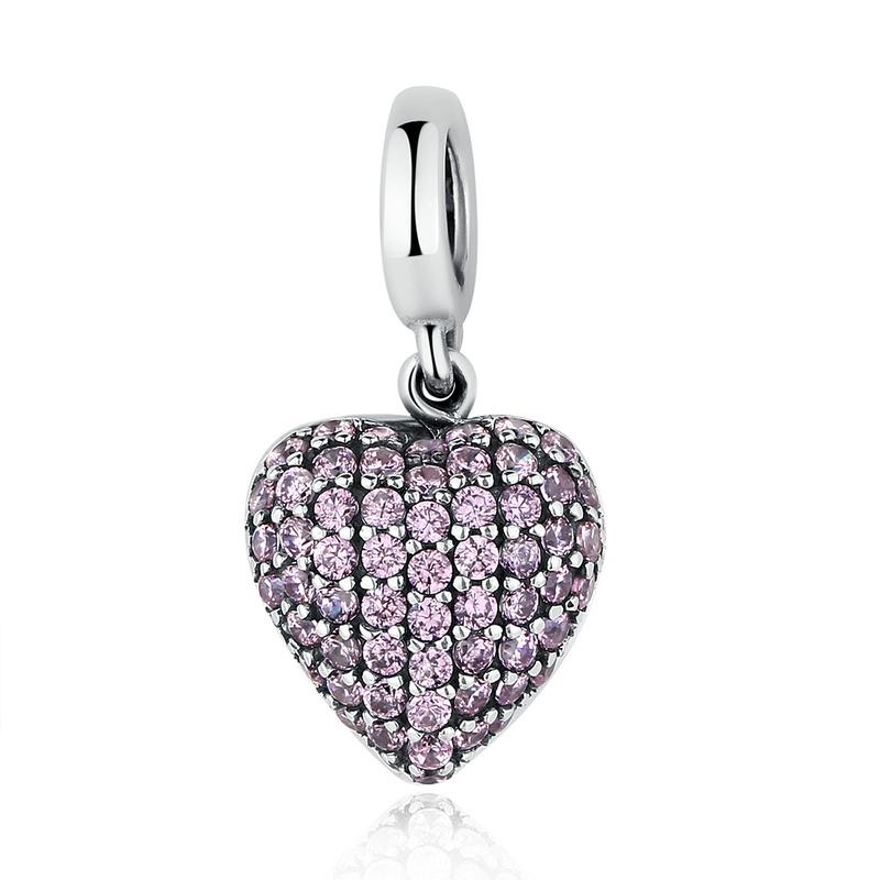 Přívěsek Růžové Srdce Royal Fashion SCC123