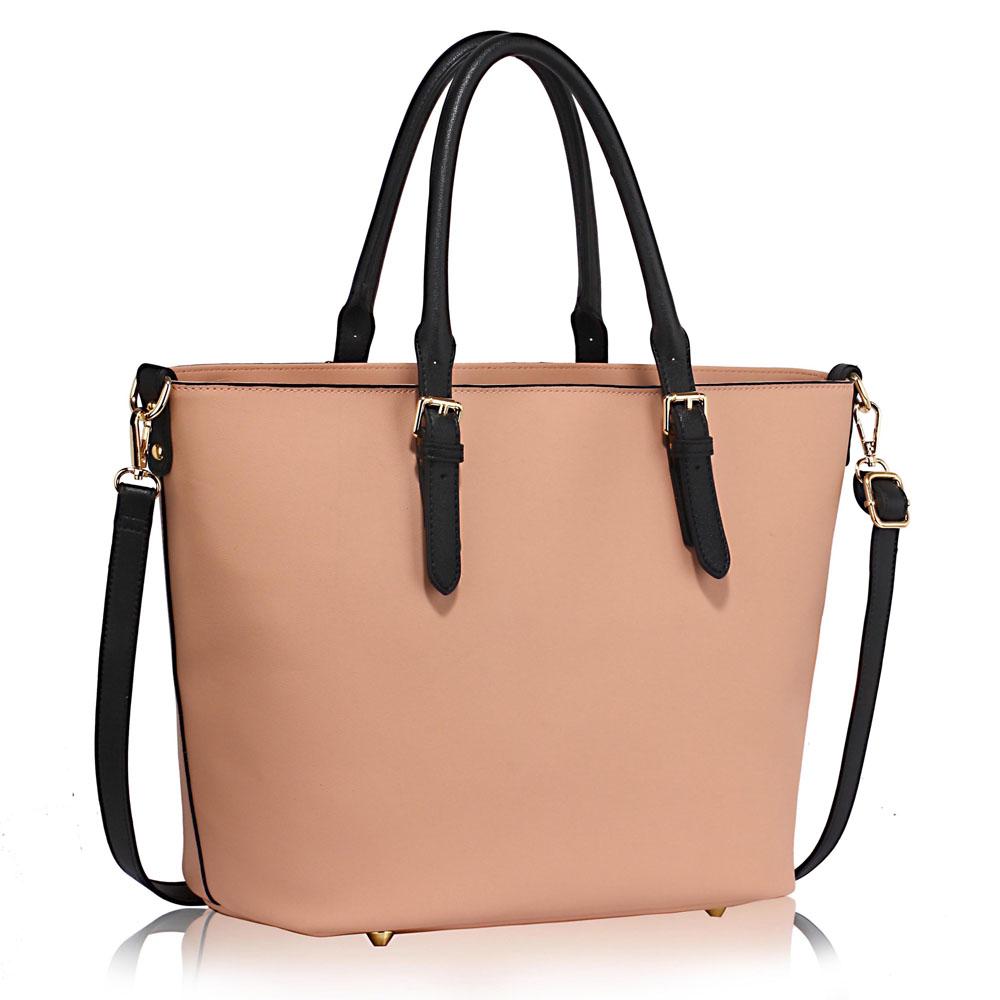 LS Fashion Elegantní kabelka LS00263_BLACK/NUDE