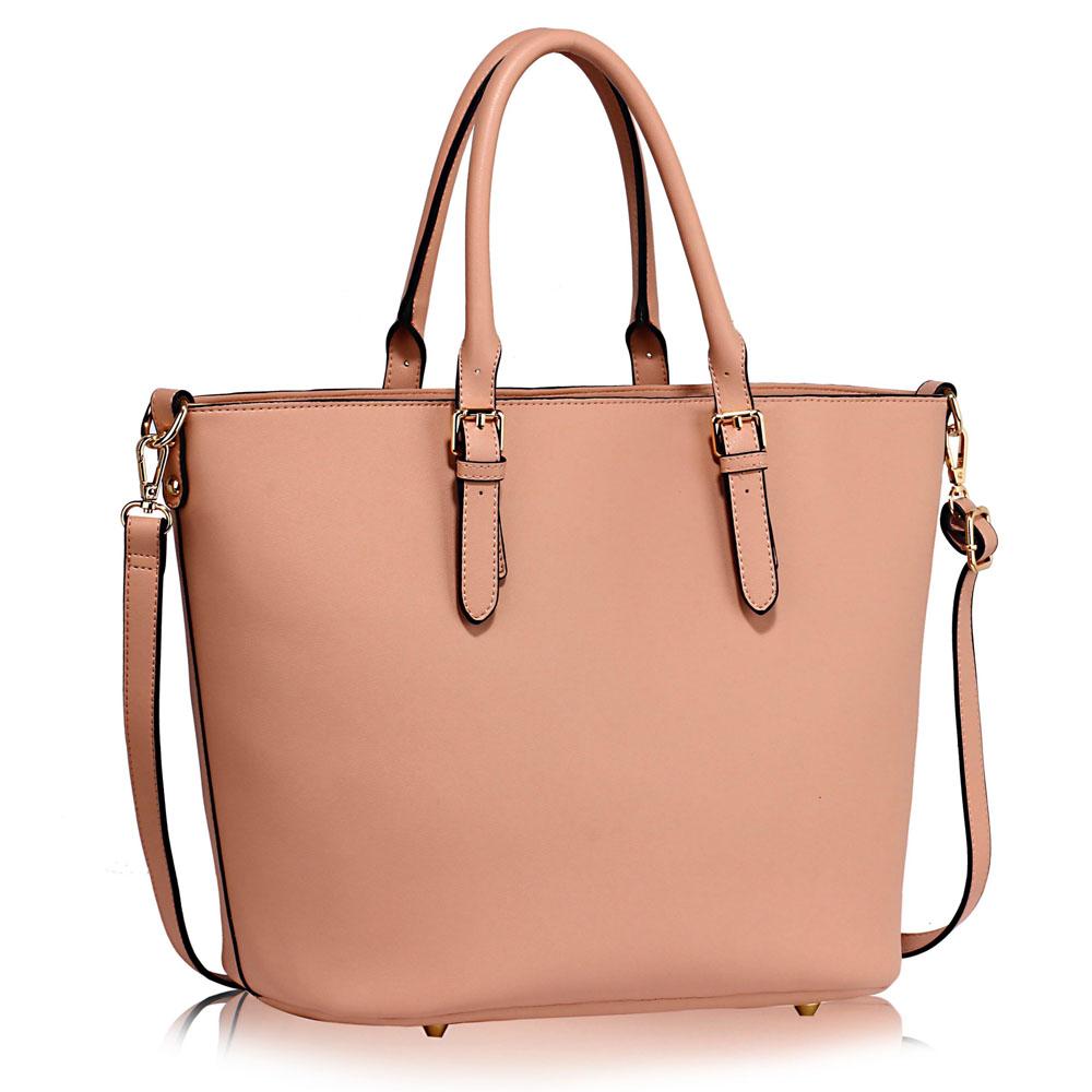 LS Fashion Elegantní kabelka LS00263_NUDE