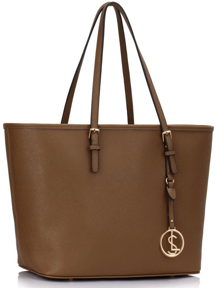 LS Fashion Elegantní kabelka LS00297_TAUPE