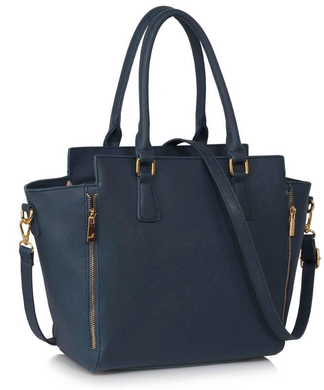 LS Fashion Elegantní kabelka LS00314A_NAVY
