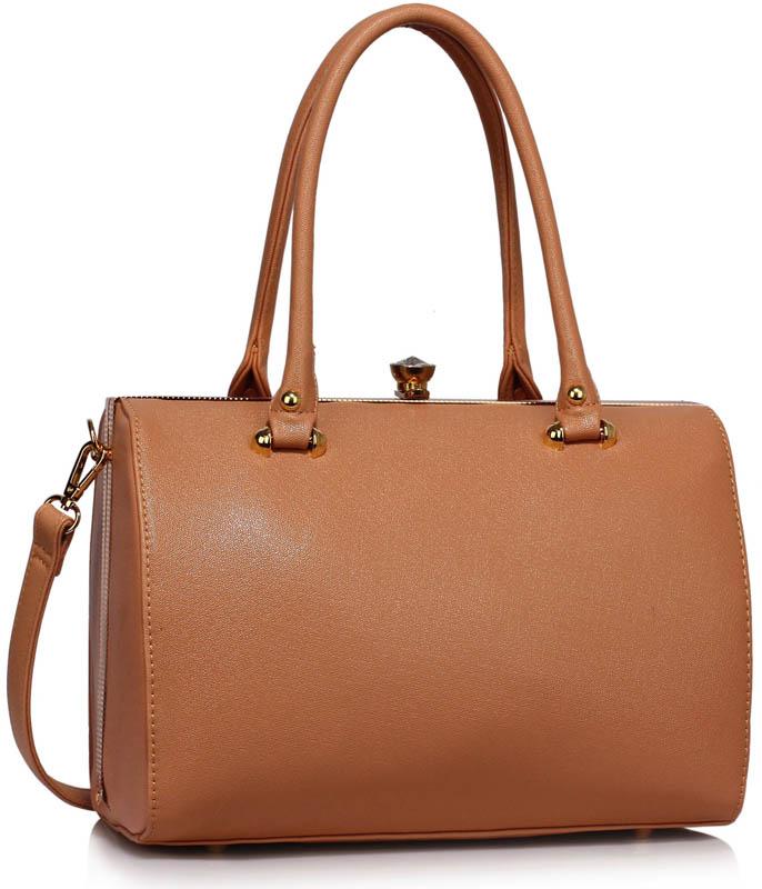 LS Fashion Elegantní kabelka LS00510_NUDE