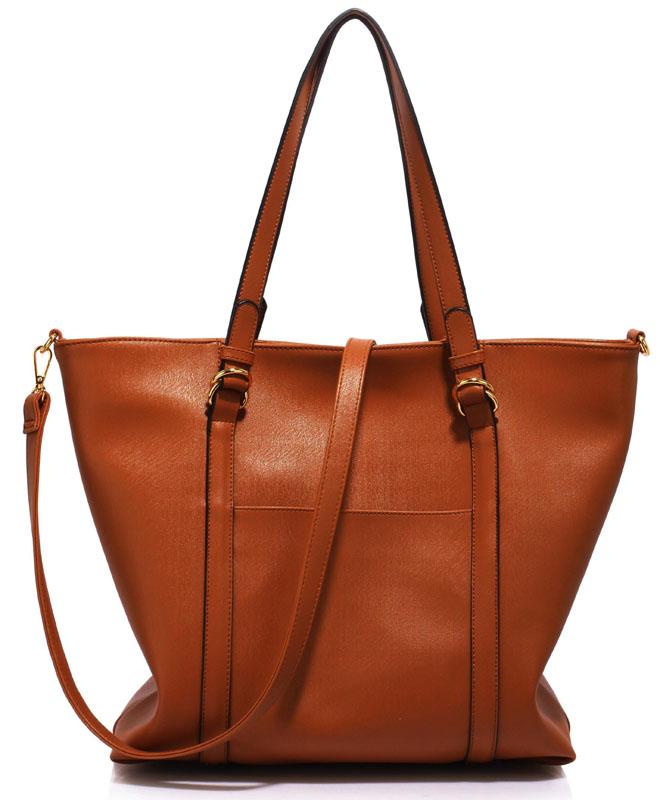 LS Fashion Elegantní kabelka LS00413_BROWN