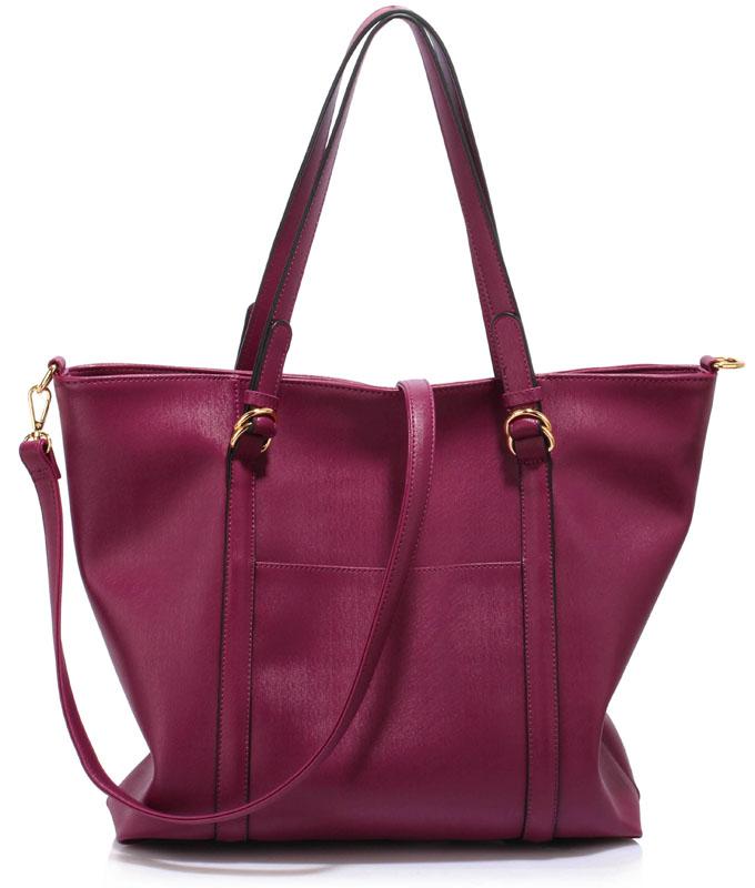 LS Fashion Elegantní kabelka LS00413_BURGUNDY