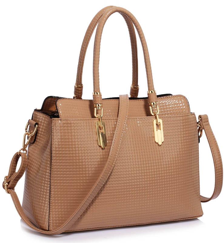 LS Fashion Elegantní kabelka LS00418A_NUDE