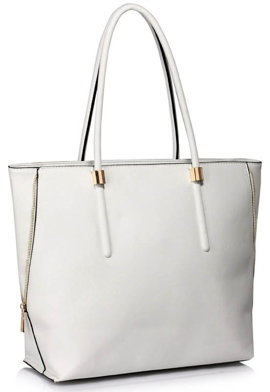 LS Fashion Moderní kabelka LS00494_WHITE