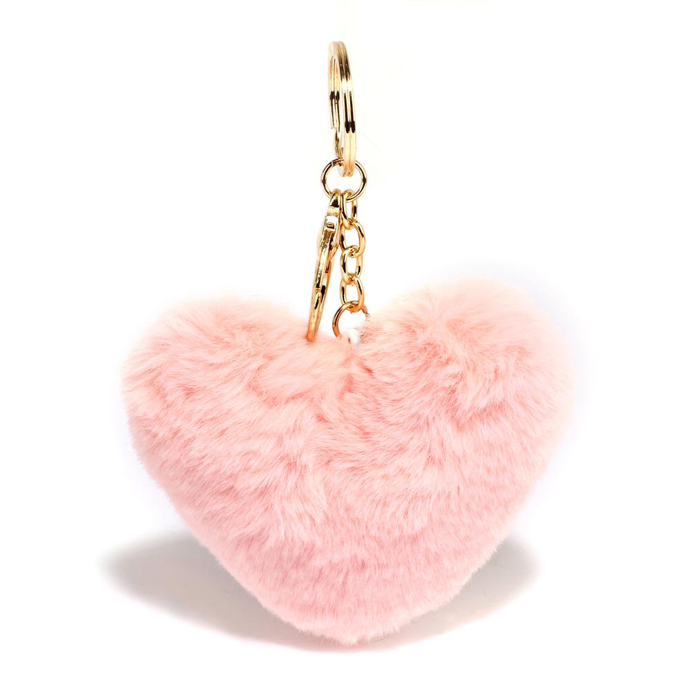 Přívěsek na kabelku Srdce AGC1014_BABY PINK