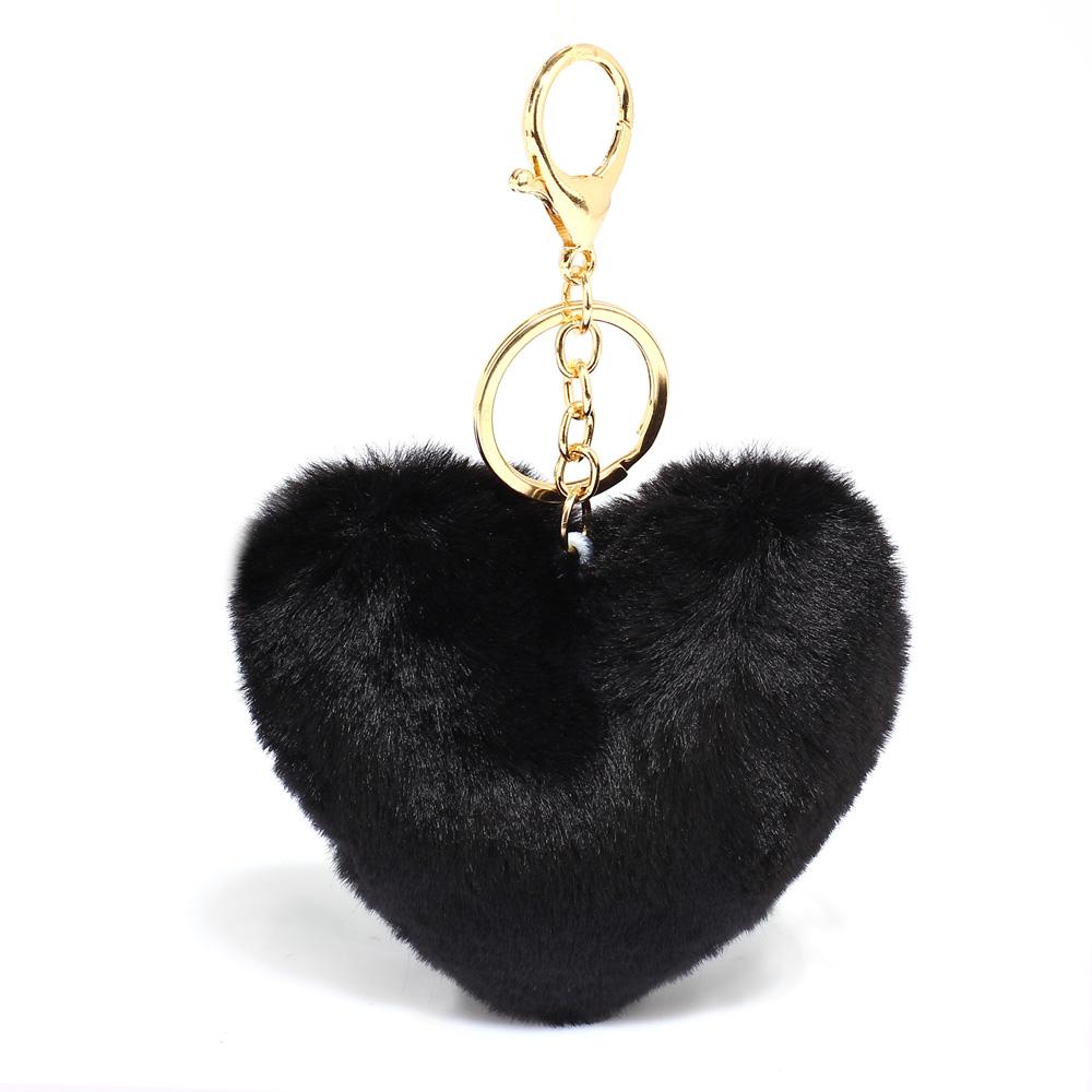Přívěsek na kabelku Srdce AGC1014_BLACK
