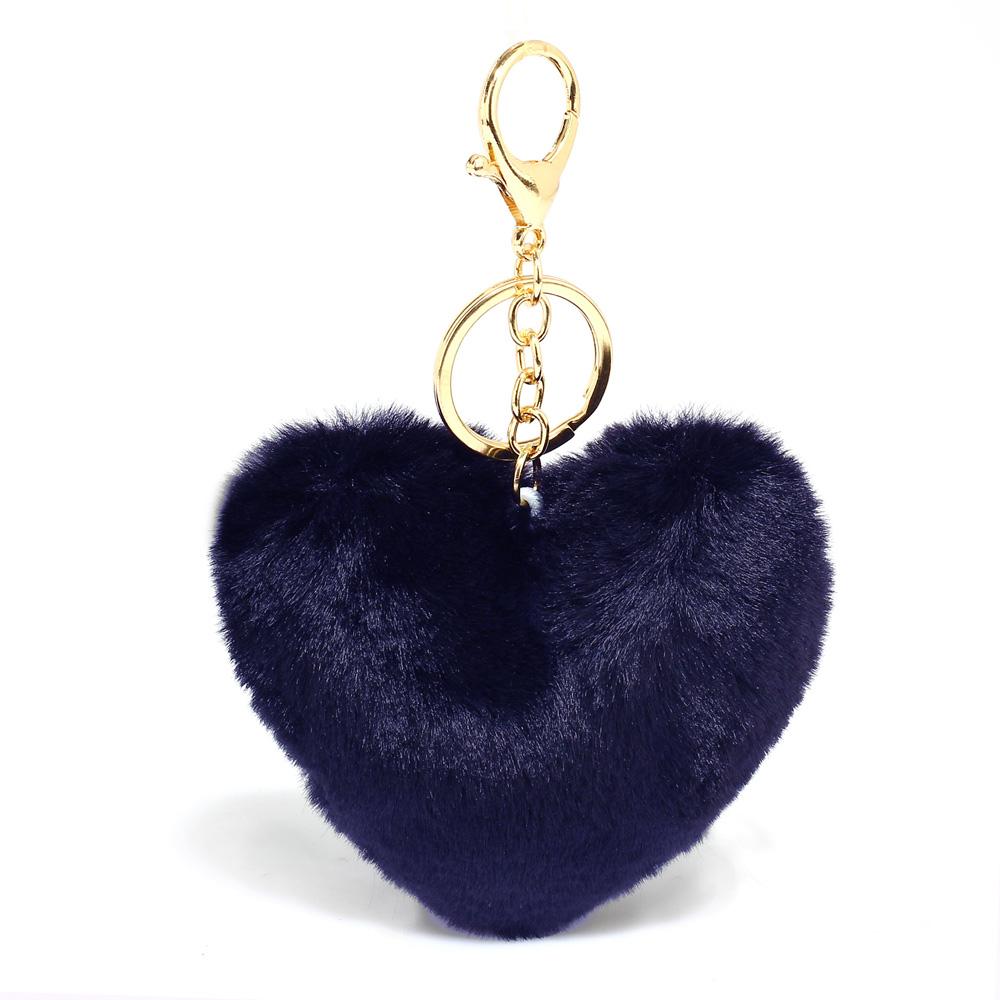 Přívěsek na kabelku Srdce AGC1014_NAVY