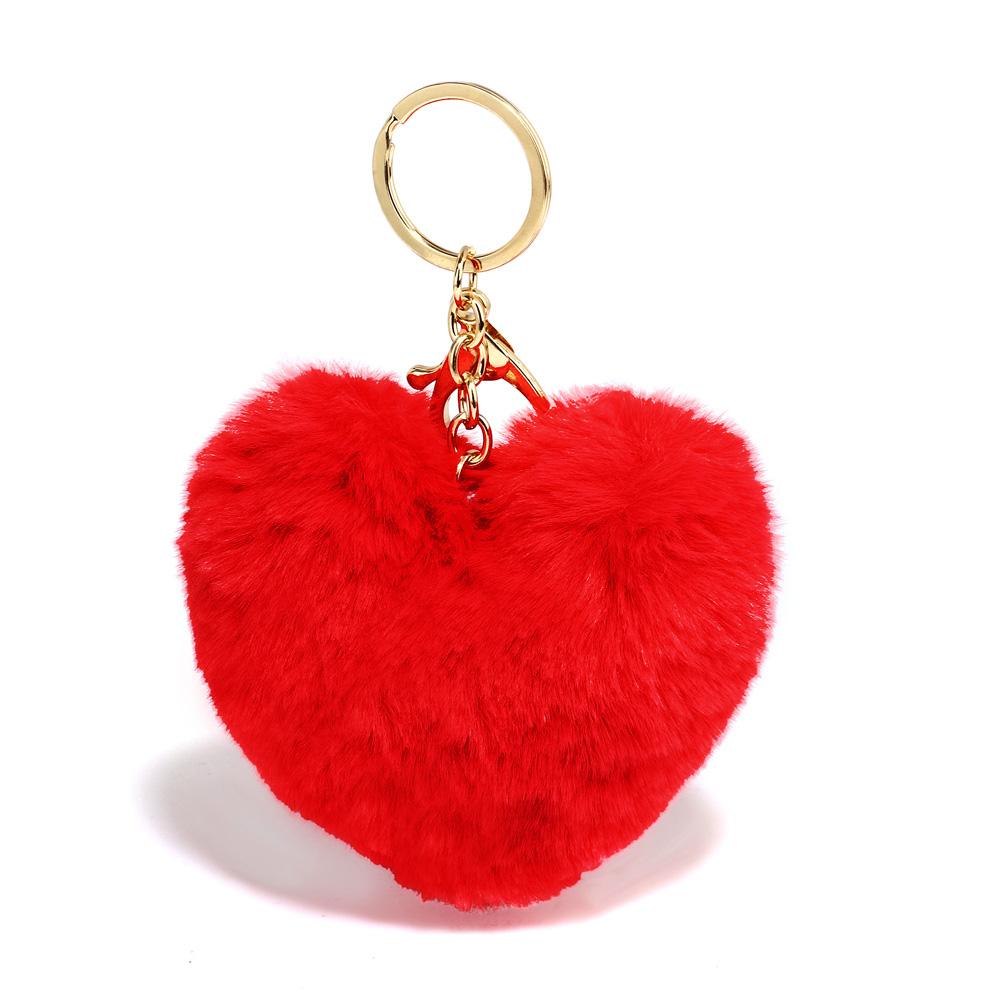 Přívěsek na kabelku Srdce AGC1014_RED