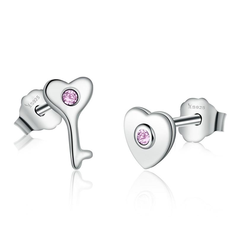 Royal Fashion náušnice Klíč k mému srdci SCE047
