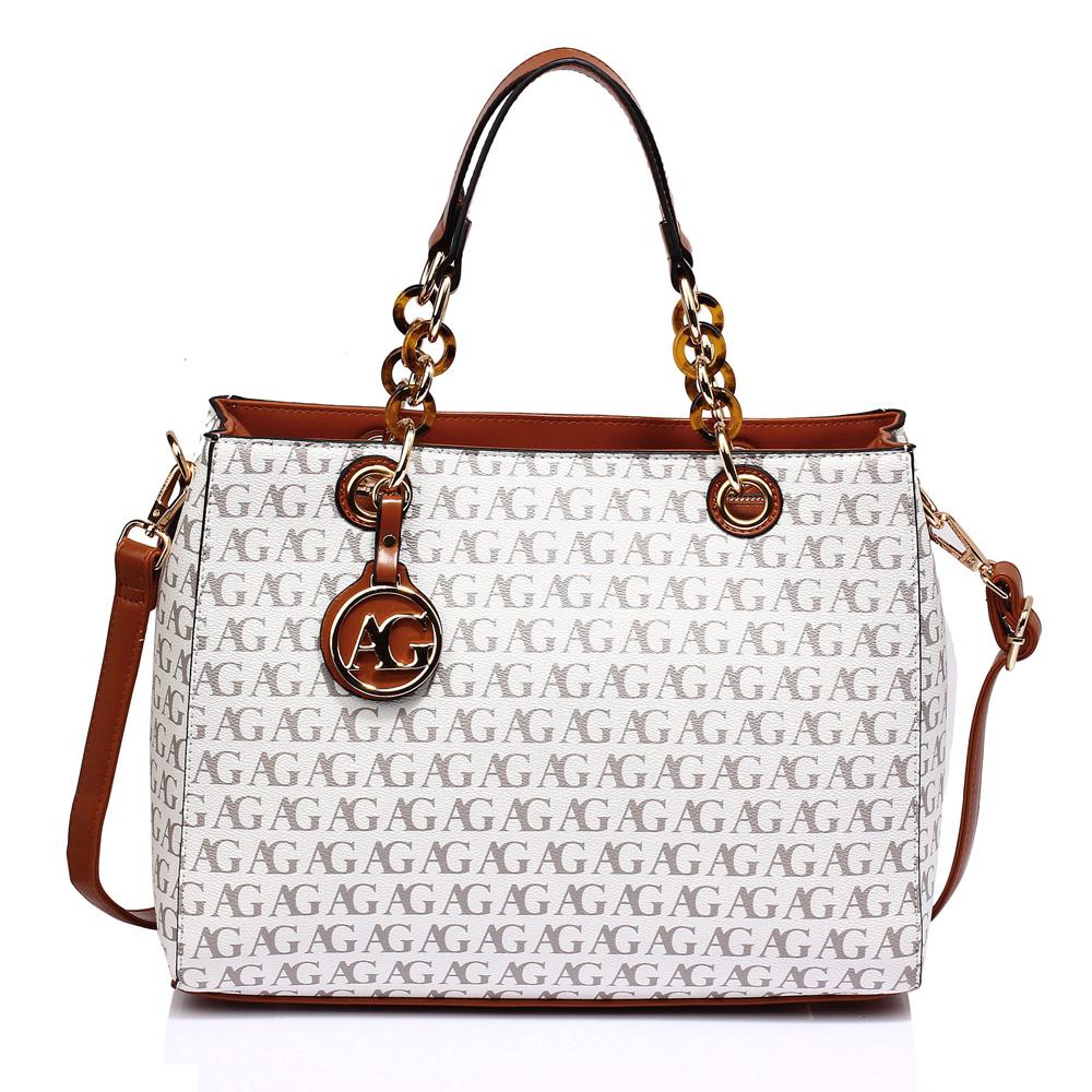 Anna Grace Luxusní kabelka AG00536_WHITE