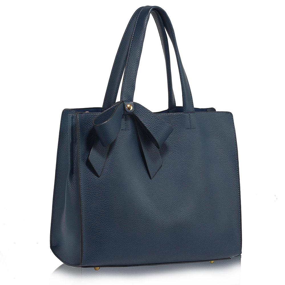LS Fashion Stylová kabelka LS00236_NAVY