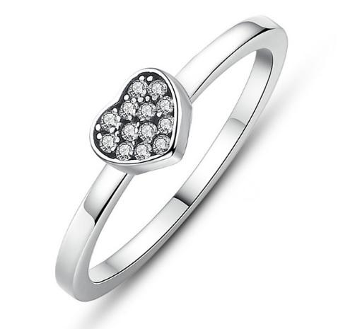 Stříbrný prsten Srdce Royal Fashion SCR028 Velikost: 57 mm