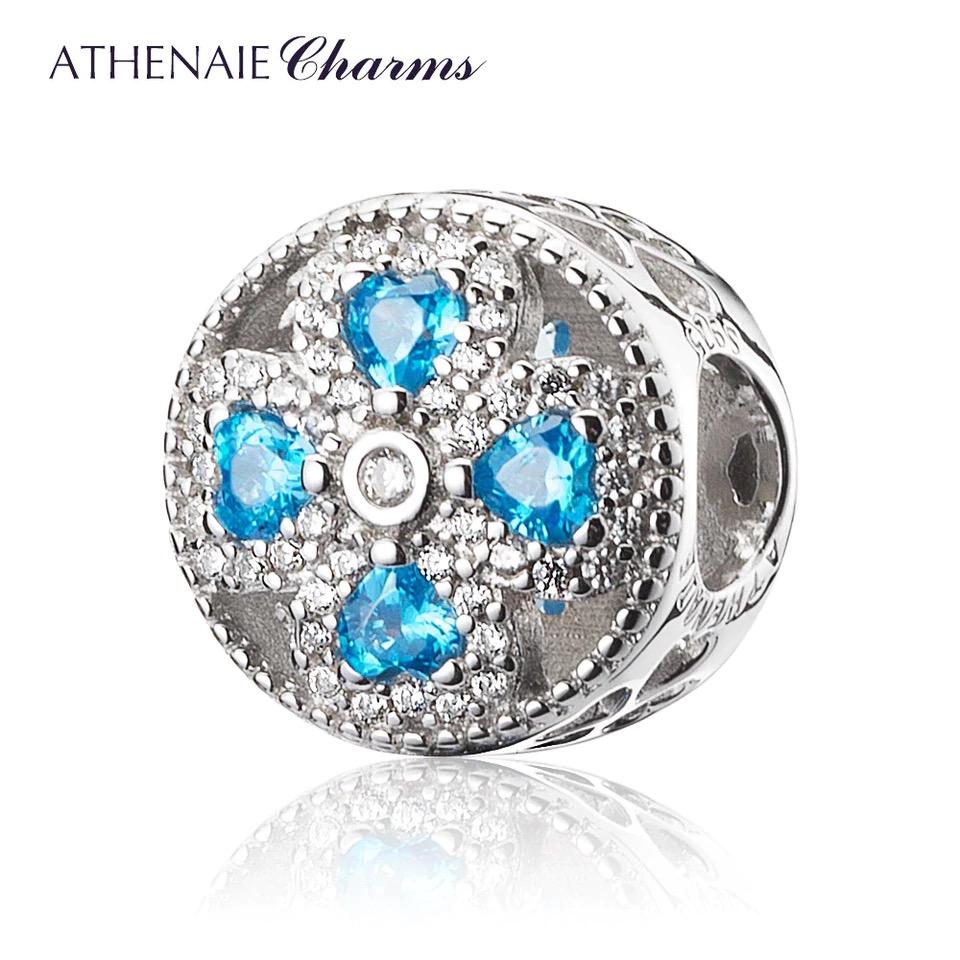 Athenaie přívěsek Modrý čtyřlístek lásky PAV52