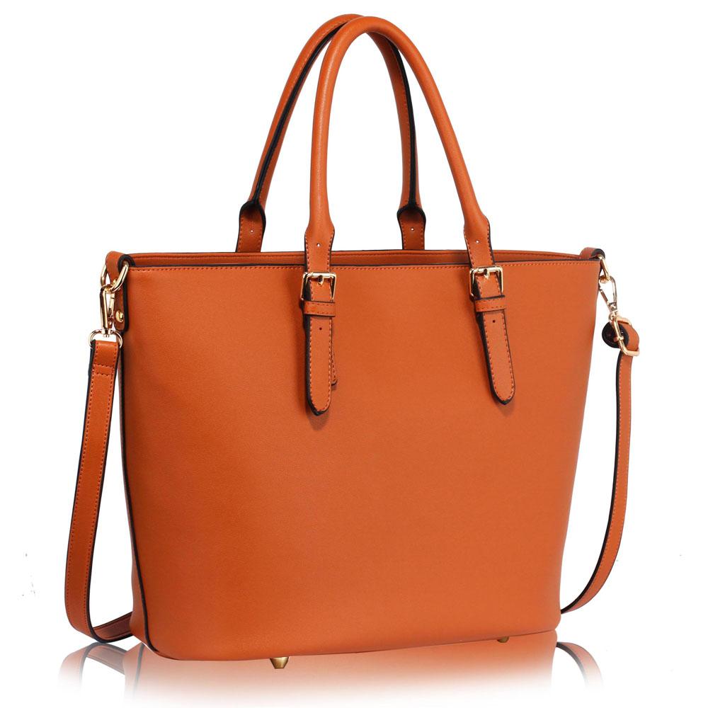 LS Fashion Elegantní kabelka LS00263_BROWN