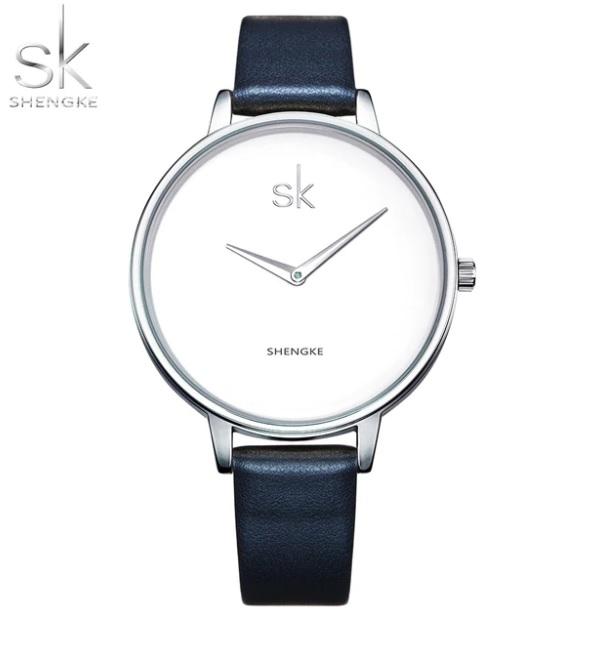 124890dae SK Shengke hodinky Classic K0046_SILVERDARKBLUE