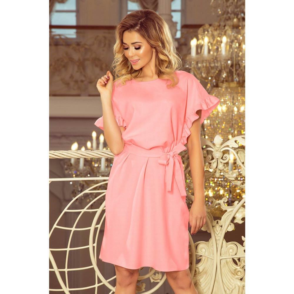 e7bc8aa0d4b0 Numoco dámské úpletové šaty 229 1 růžové Velikost  M