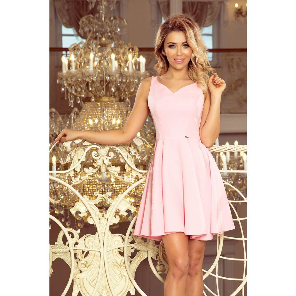 a62f7650cbcd Numoco dámské koktejlové šaty 014-10 pastelově růžové Velikost  XL