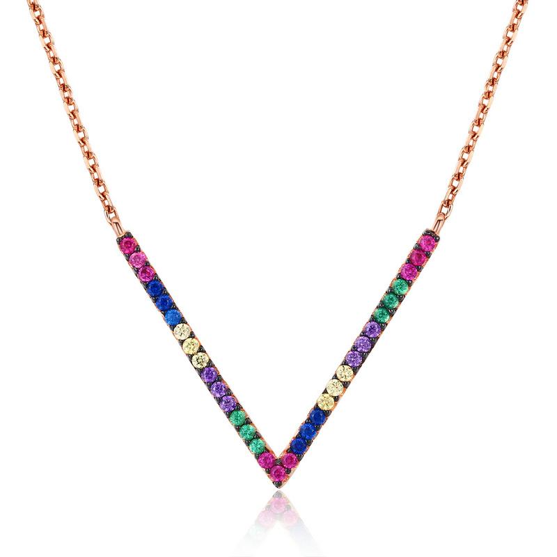 Royal Fashion náhrdelník Exclusive Rose Gold SCN124