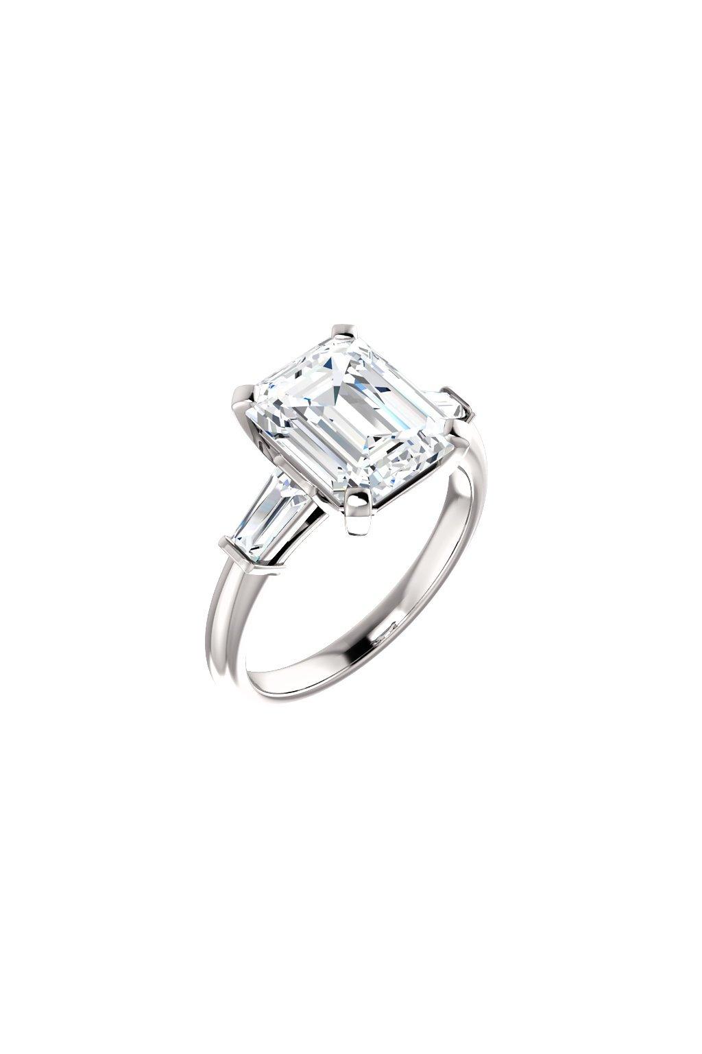 Zásnubní prsten JENN s velkým certifikovaným diamantem