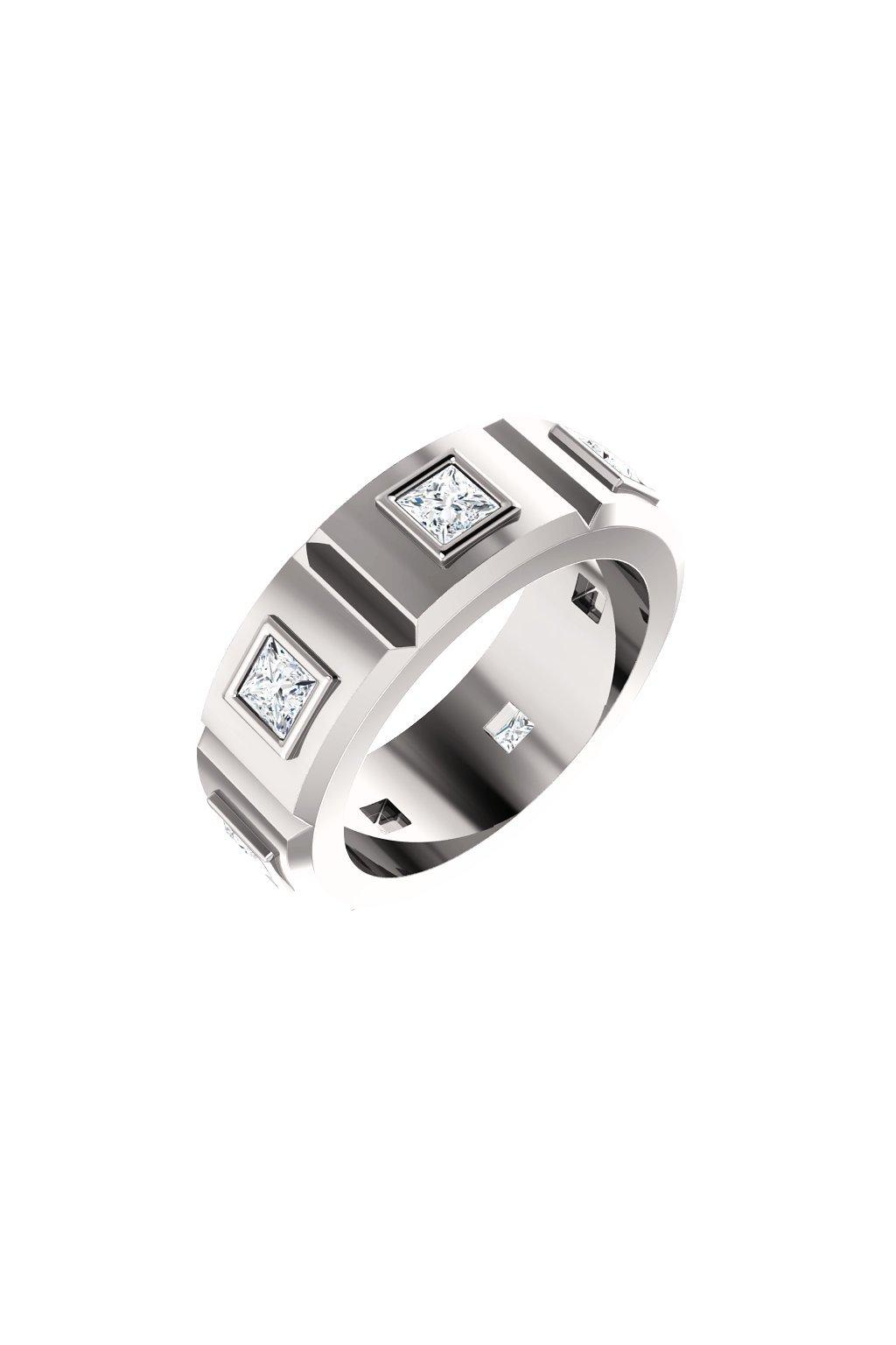Pánský prsten Royalis Windsor s Moissanity